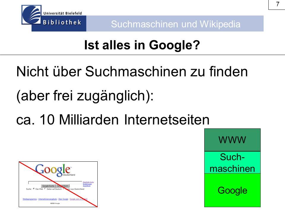 Nicht über Suchmaschinen zu finden (aber frei zugänglich):