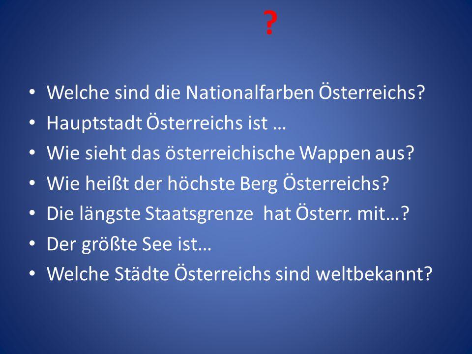 Welche sind die Nationalfarben Österreichs