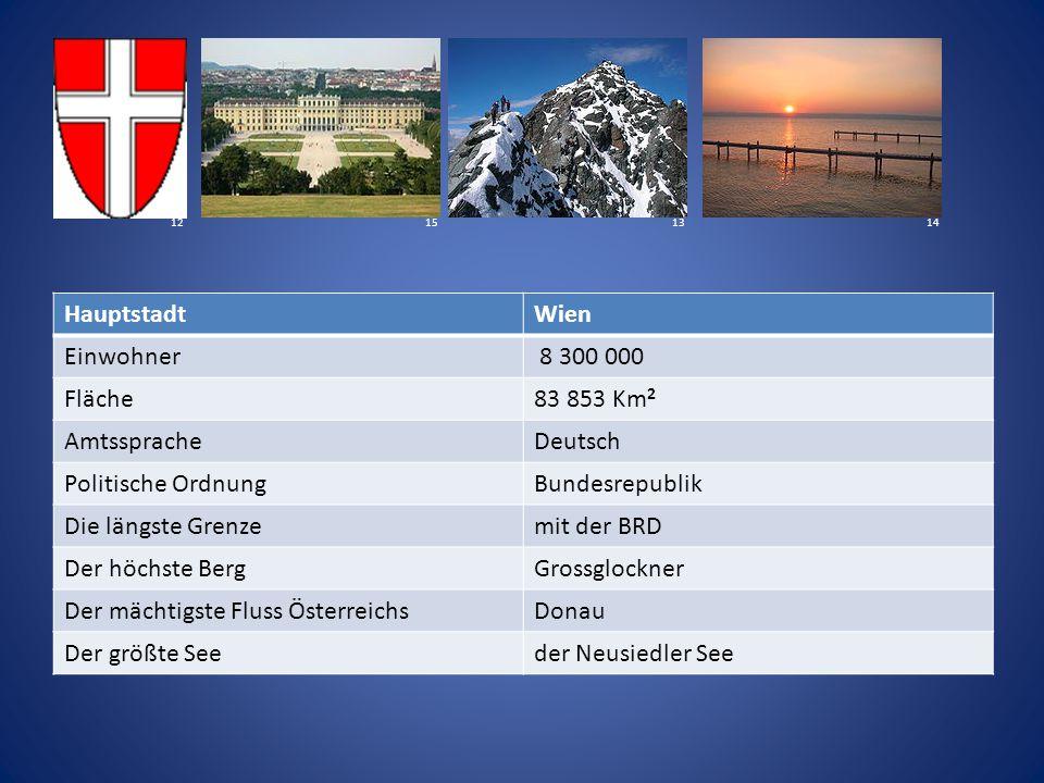 Der mächtigste Fluss Österreichs Donau Der größte See