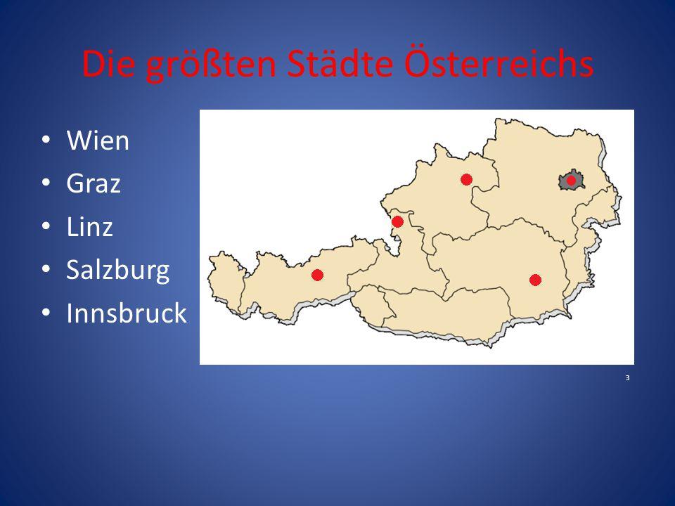 Die größten Städte Österreichs
