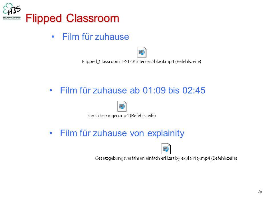 Flipped Classroom Film für zuhause Film für zuhause ab 01:09 bis 02:45