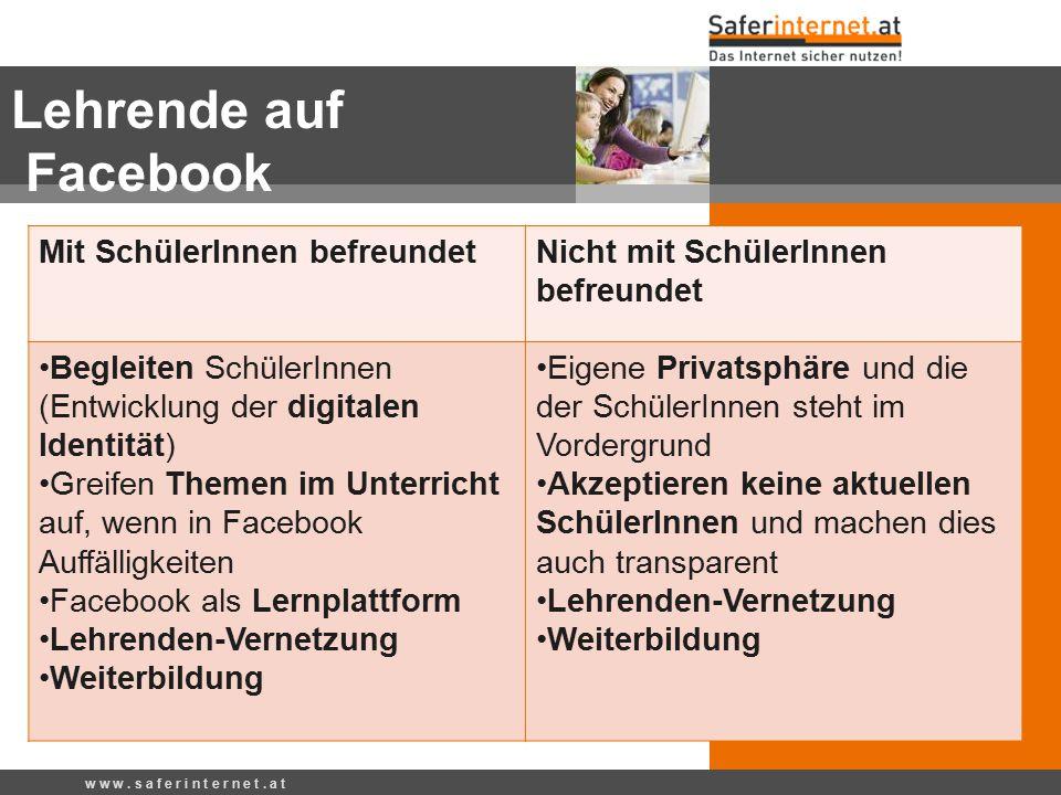Lehrende auf Facebook Mit SchülerInnen befreundet