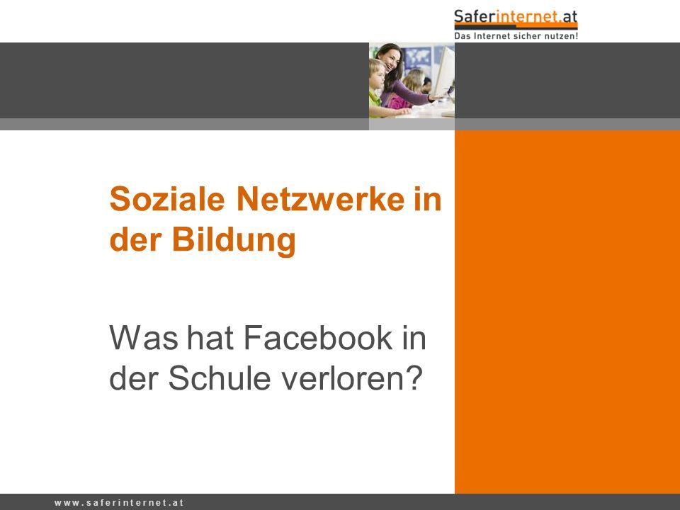 Soziale Netzwerke in der Bildung