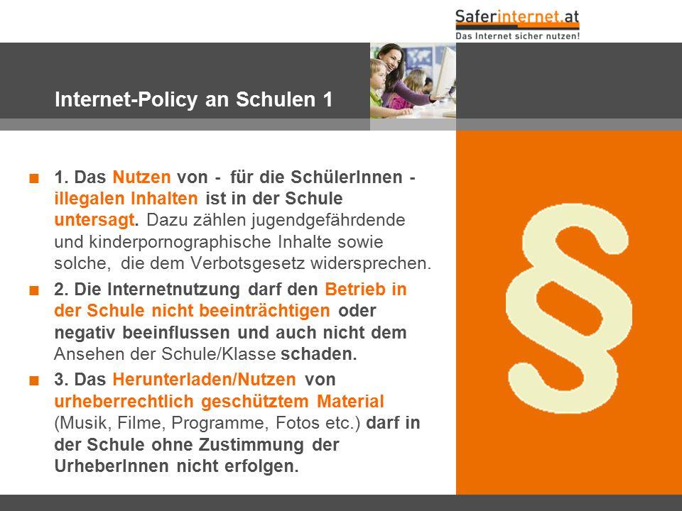 Internet-Policy an Schulen 1
