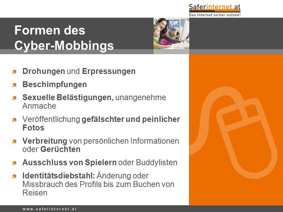 Formen des Cyber-Mobbings