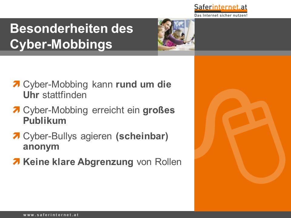 Besonderheiten des Cyber-Mobbings