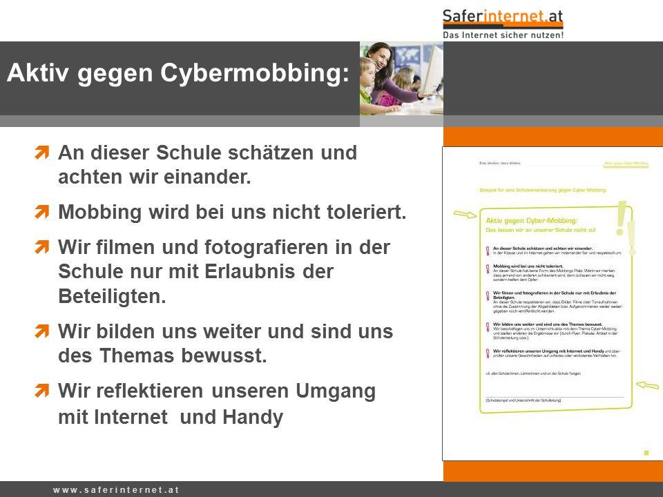 Aktiv gegen Cybermobbing: