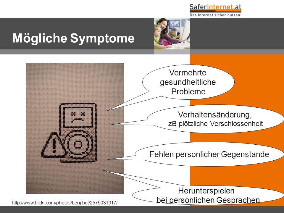 Mögliche Symptome Vermehrte gesundheitliche Probleme