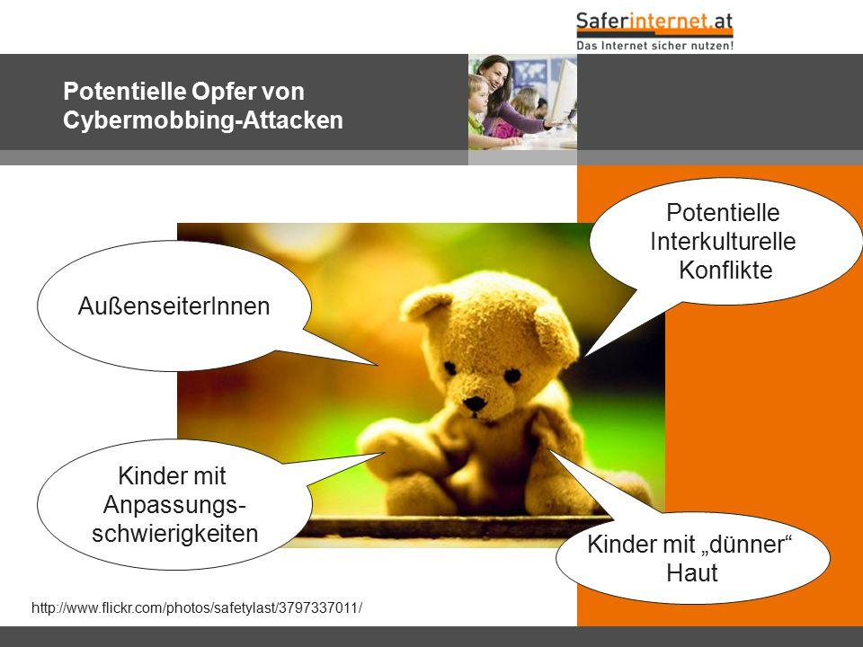Potentielle Opfer von Cybermobbing-Attacken