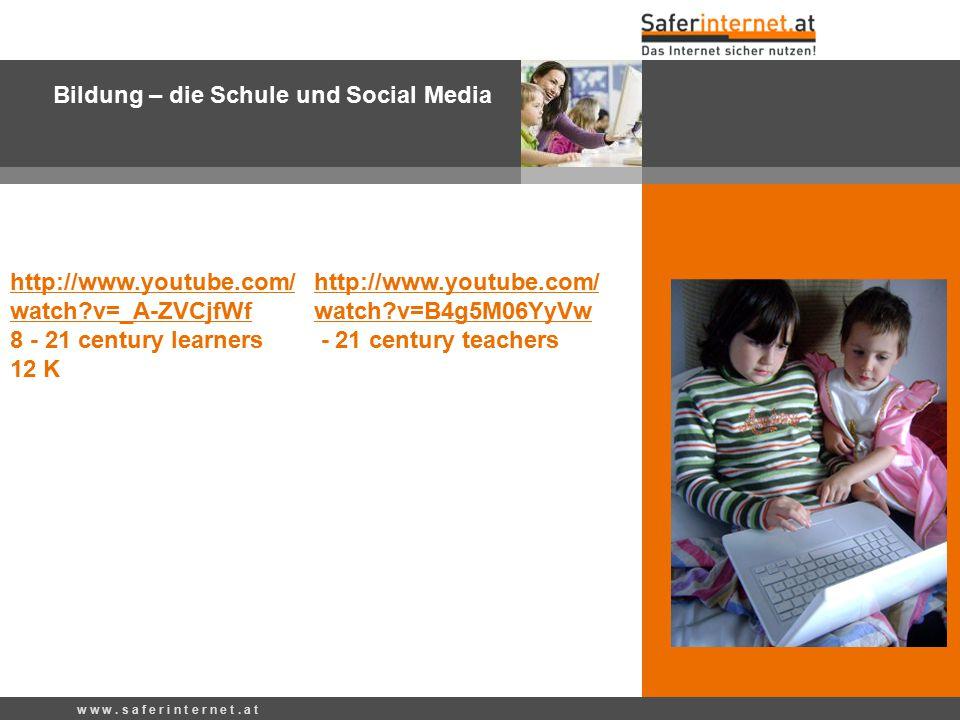 Bildung – die Schule und Social Media