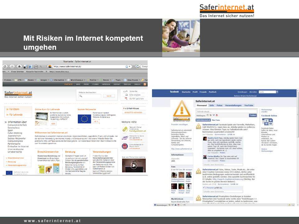 Mit Risiken im Internet kompetent umgehen