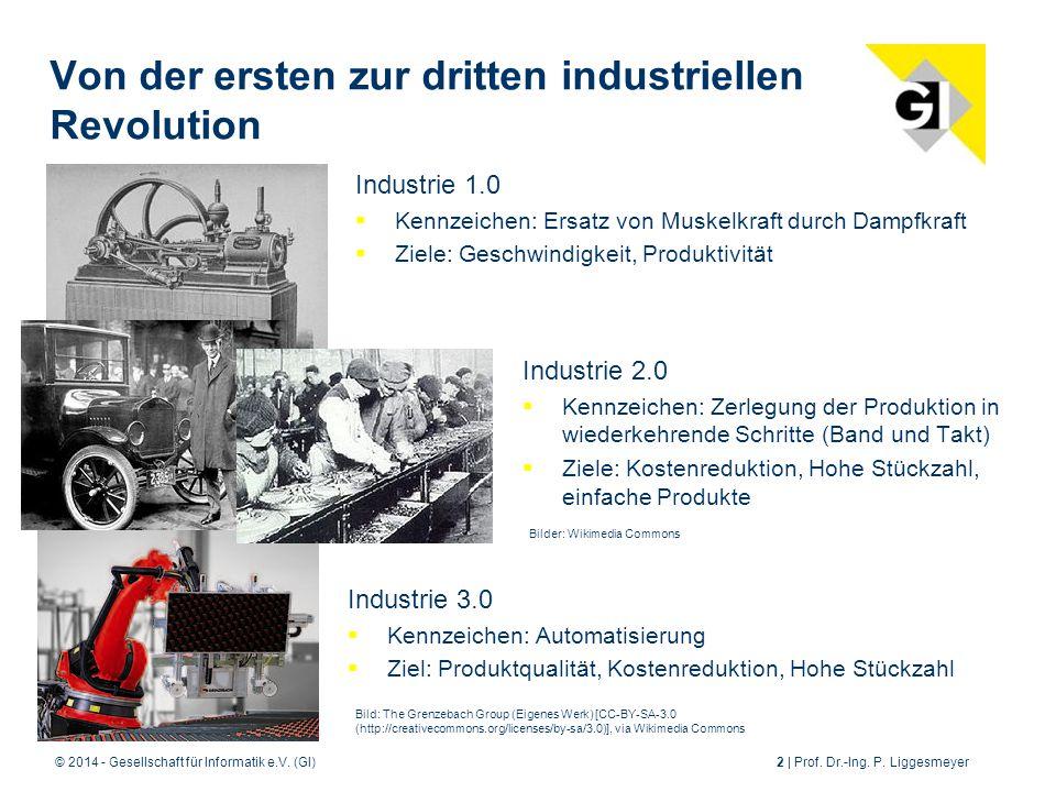 Von der ersten zur dritten industriellen Revolution