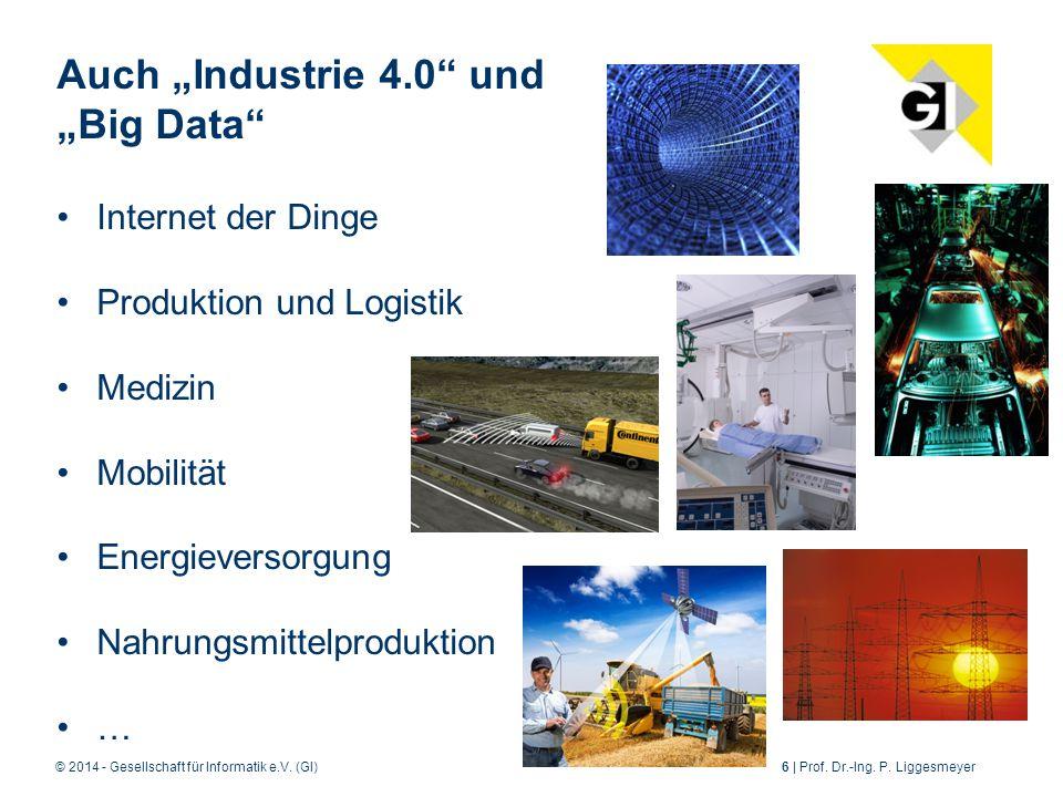 """Auch """"Industrie 4.0 und """"Big Data"""