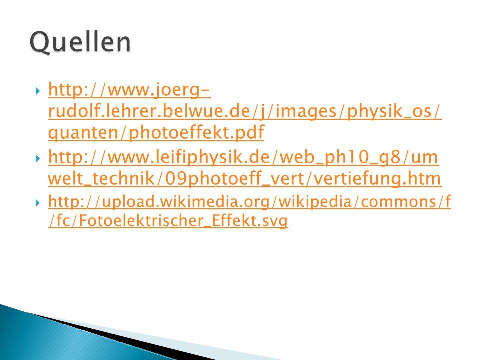 Quellen http://www.joerg- rudolf.lehrer.belwue.de/j/images/physik_os/ quanten/photoeffekt.pdf.