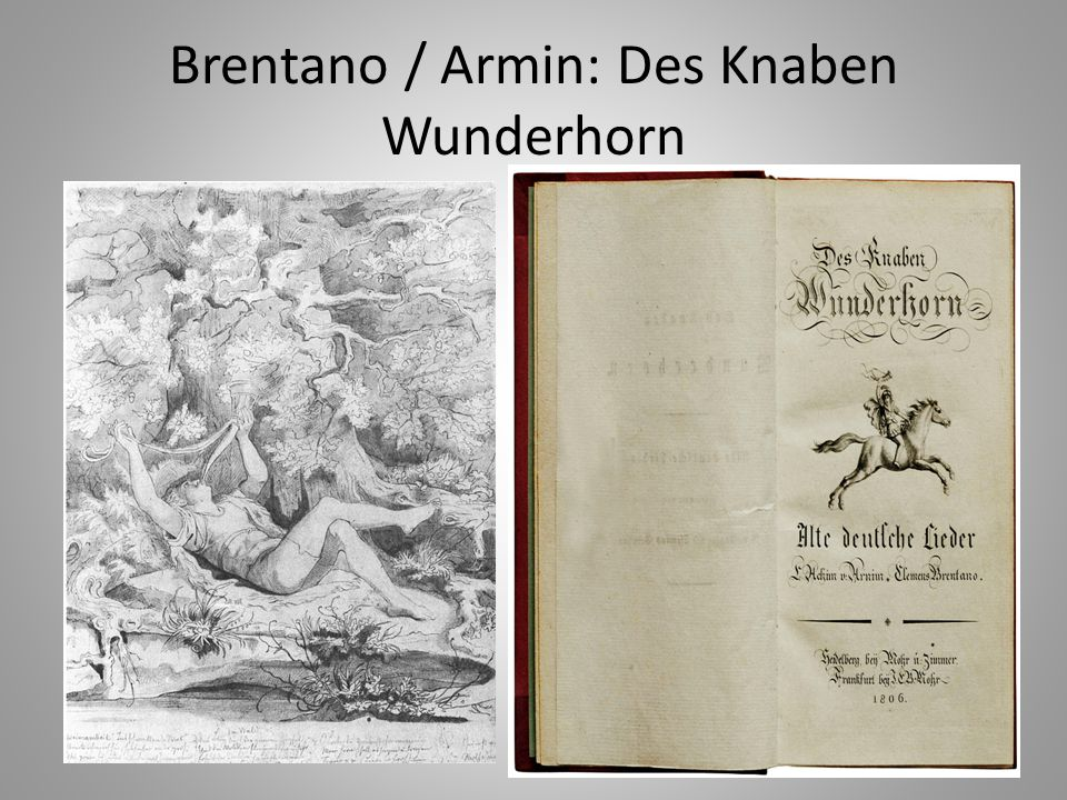 Brentano / Armin: Des Knaben Wunderhorn