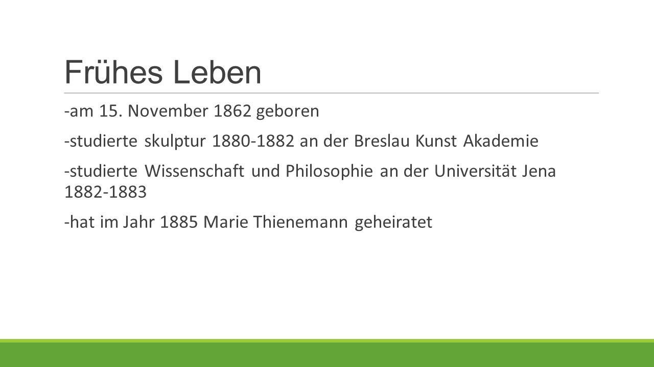 Frühes Leben -am 15. November 1862 geboren