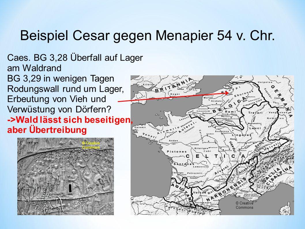 Beispiel Cesar gegen Menapier 54 v. Chr.