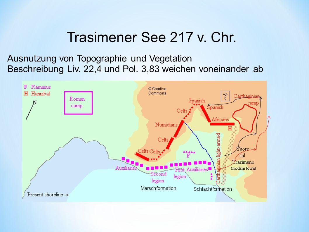Trasimener See 217 v. Chr. Ausnutzung von Topographie und Vegetation