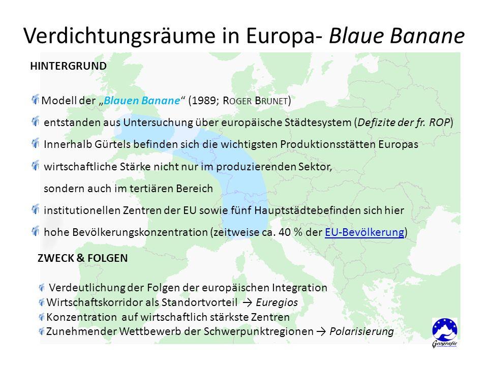 Verdichtungsräume in Europa- Blaue Banane