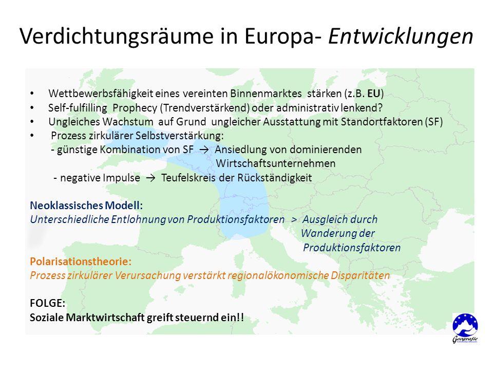 Verdichtungsräume in Europa- Entwicklungen