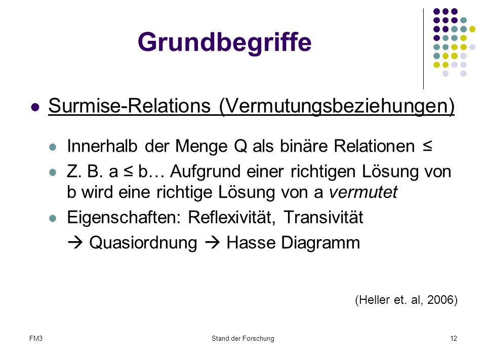 Grundbegriffe Surmise-Relations (Vermutungsbeziehungen)