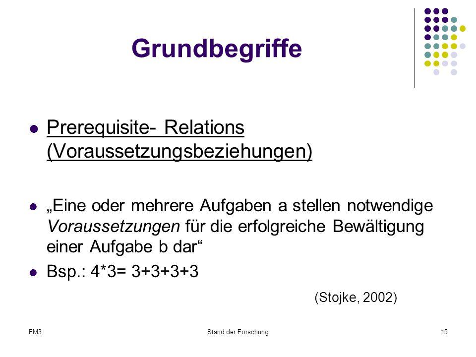 Grundbegriffe Prerequisite- Relations (Voraussetzungsbeziehungen)