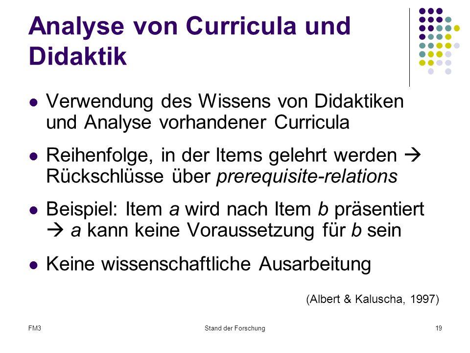 Analyse von Curricula und Didaktik