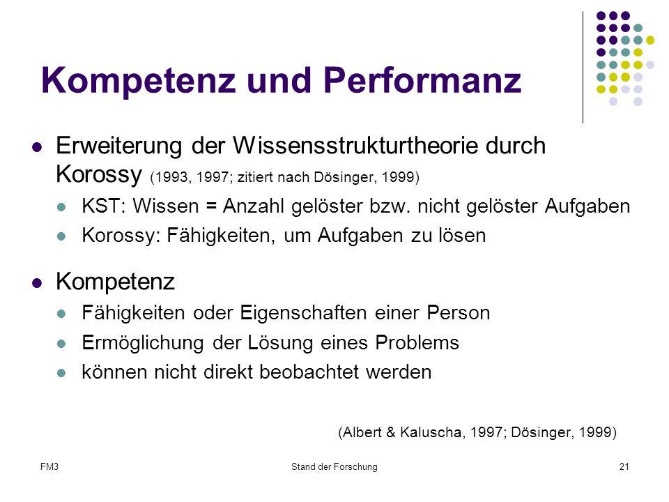 Kompetenz und Performanz