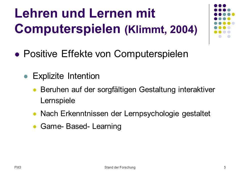 Lehren und Lernen mit Computerspielen (Klimmt, 2004)
