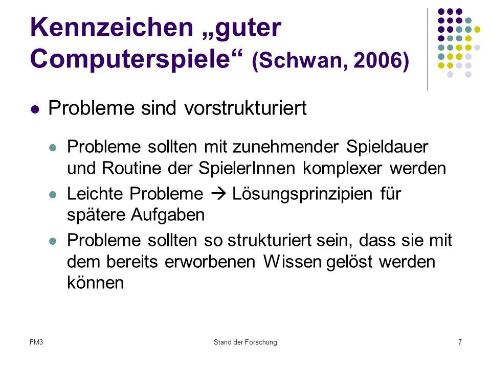 """Kennzeichen """"guter Computerspiele (Schwan, 2006)"""
