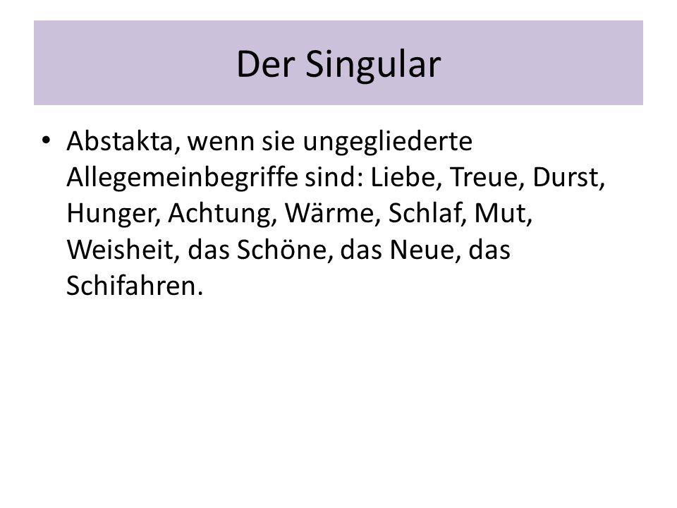 Der Singular