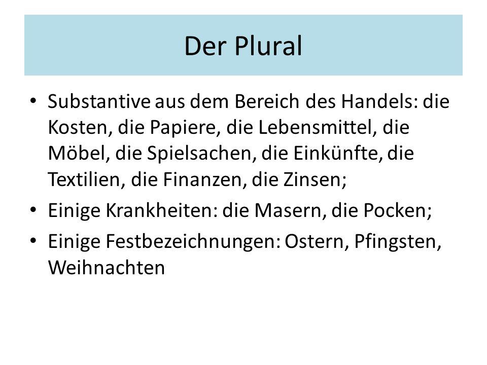Der Plural