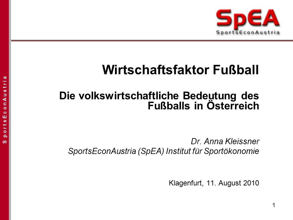 Wirtschaftsfaktor Fußball