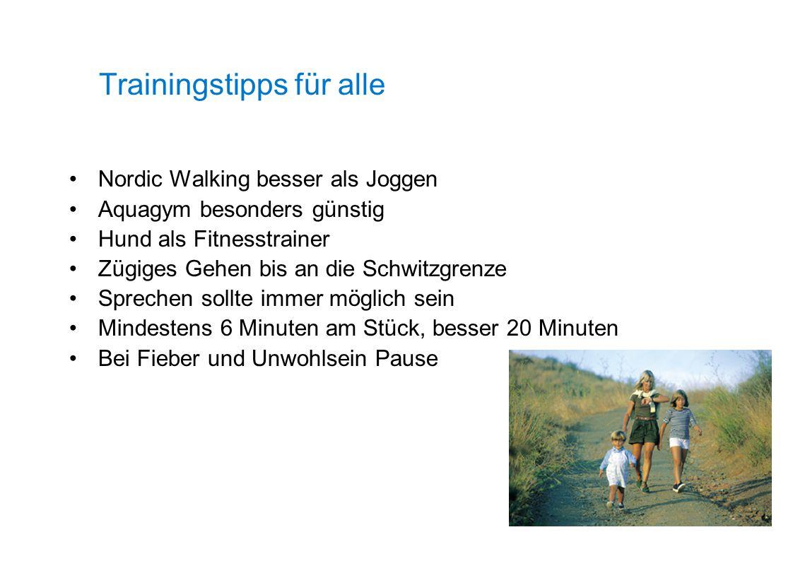 Trainingstipps für alle