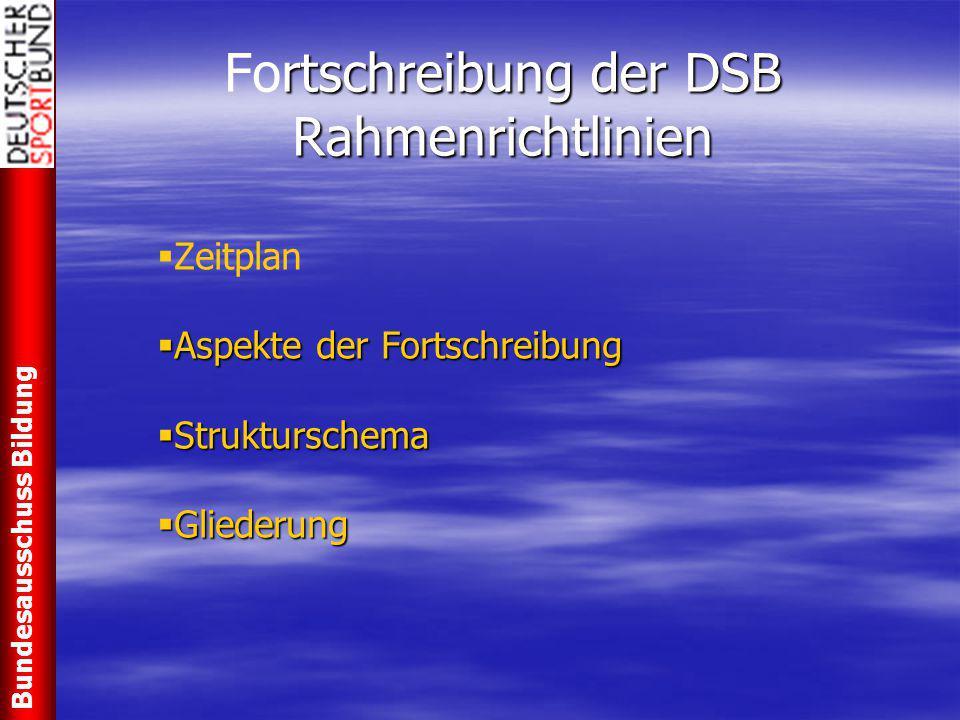 Fortschreibung der DSB Rahmenrichtlinien