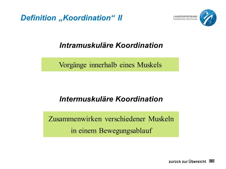 "Definition ""Koordination II"