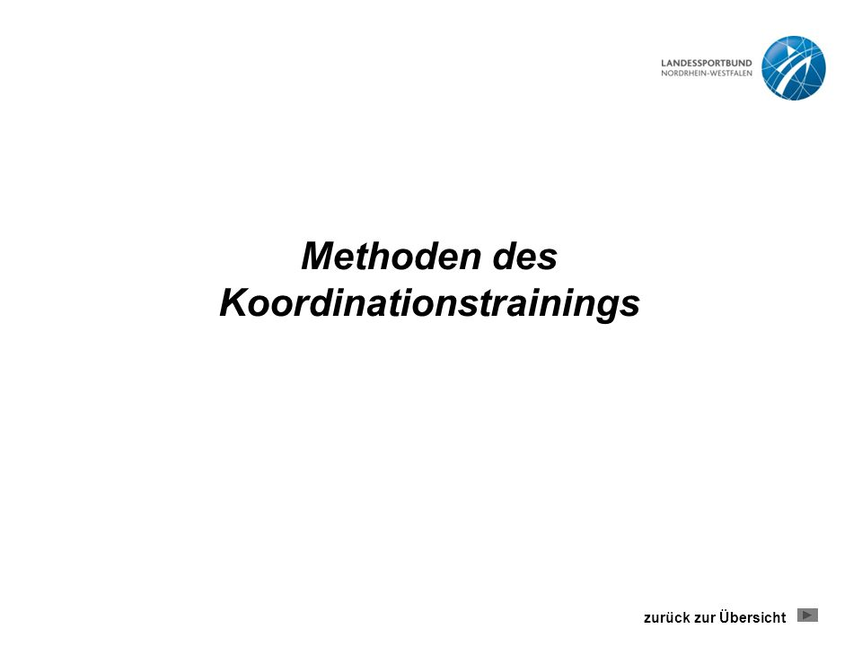 Methoden des Koordinationstrainings