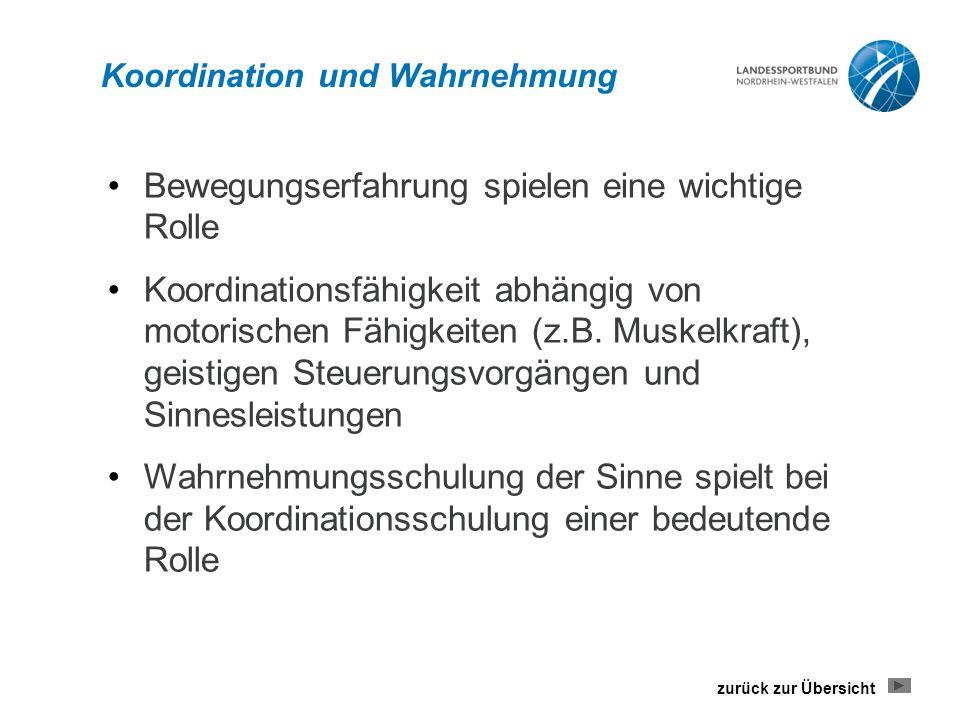 Koordination und Wahrnehmung