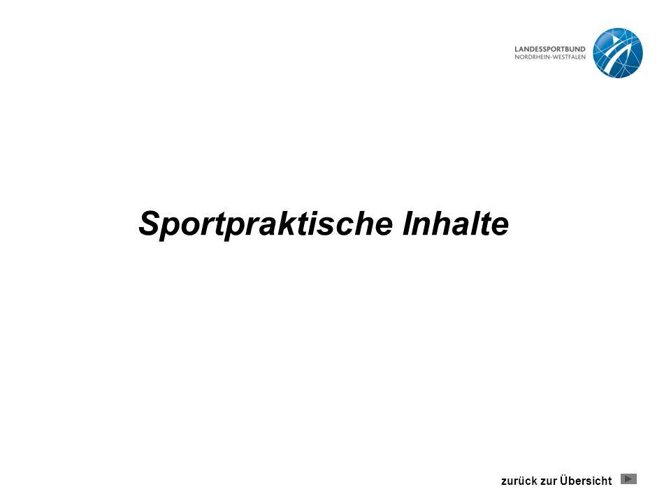 Sportpraktische Inhalte