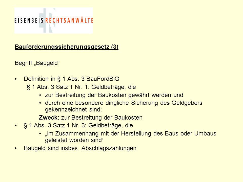 Bauforderungssicherungsgesetz (3)
