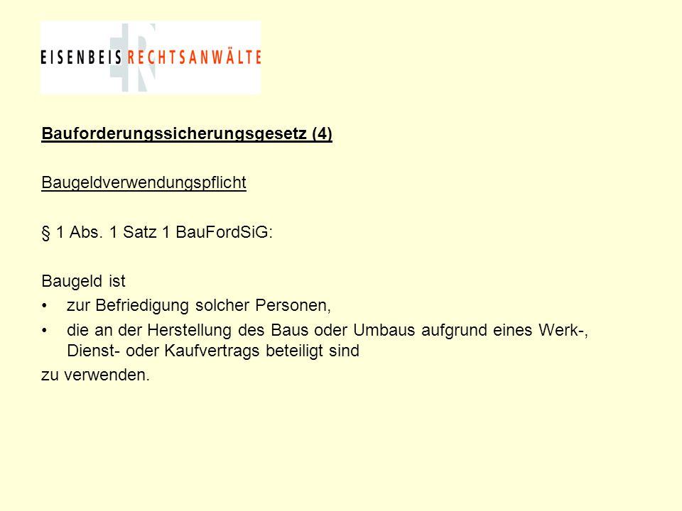 Bauforderungssicherungsgesetz (4)
