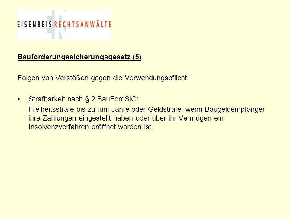 Bauforderungssicherungsgesetz (5)