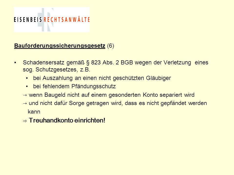 Bauforderungssicherungsgesetz (6)
