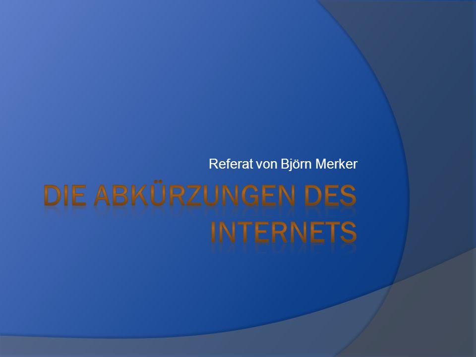 Die Abkürzungen des Internets