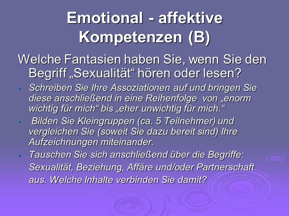 Emotional - affektive Kompetenzen (B)