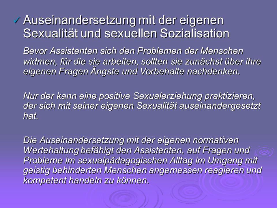 Auseinandersetzung mit der eigenen Sexualität und sexuellen Sozialisation
