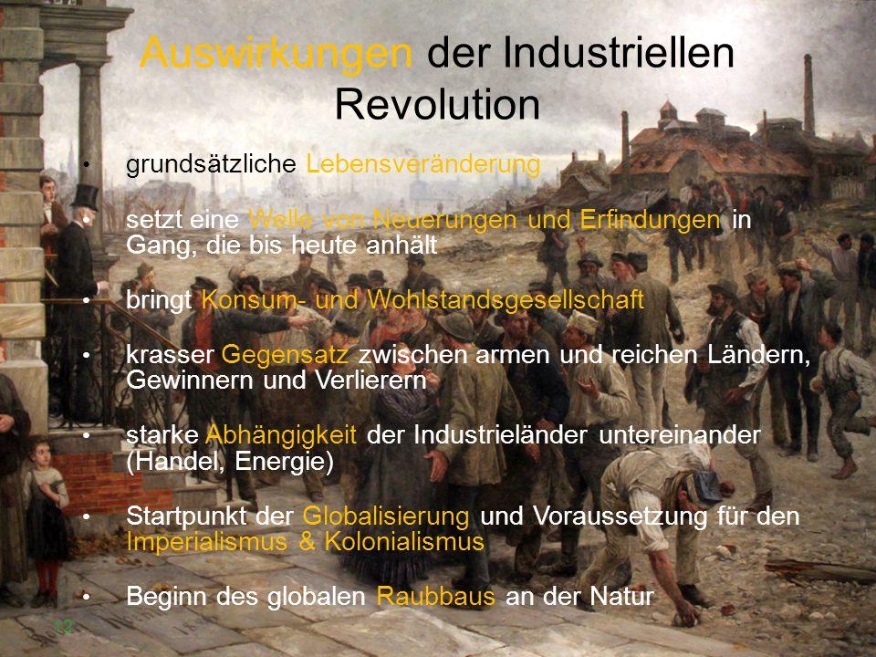 Auswirkungen der Industriellen Revolution