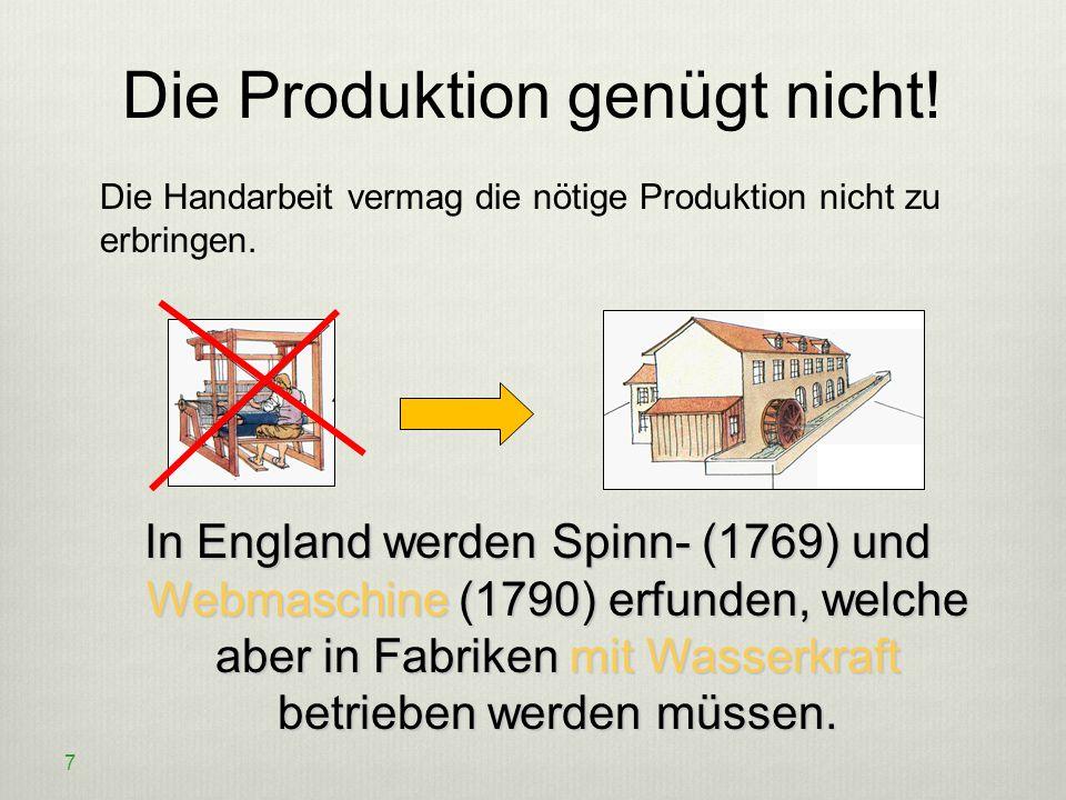 Die Produktion genügt nicht!