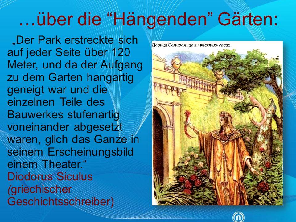 …über die Hängenden Gärten: