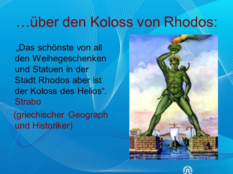 …über den Koloss von Rhodos: